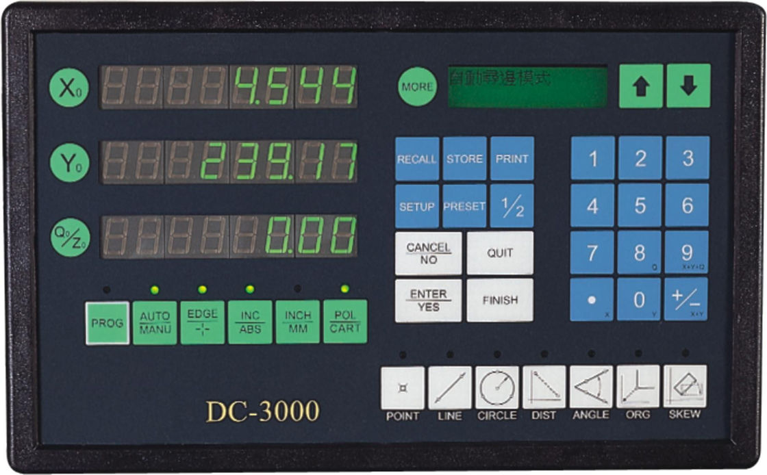 DC-3000 Digital Readout For Linear Scales / Video Measuring System